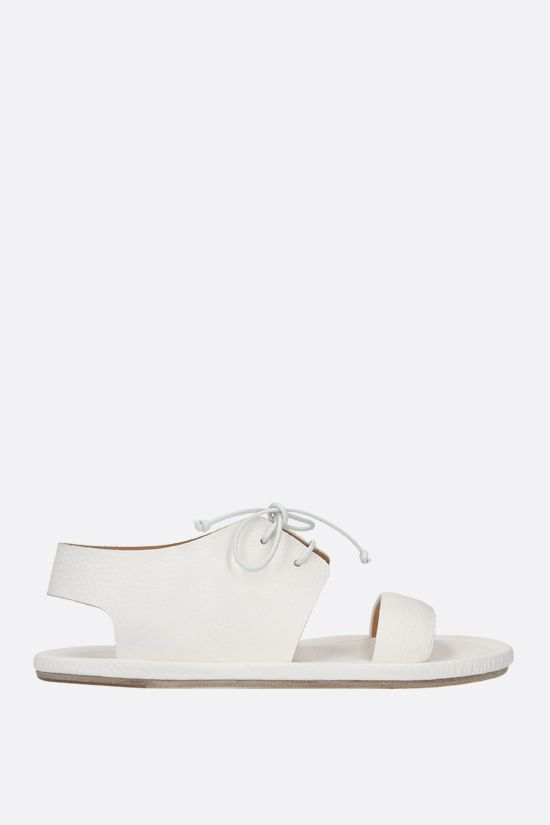 MARSELL: Cornice grainy leather flat sandals Color White_1