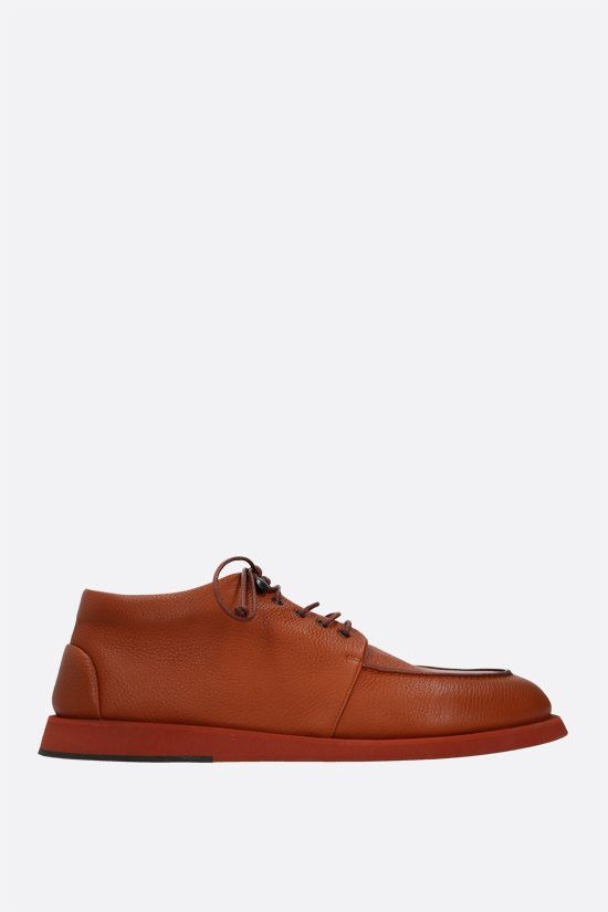 MARSELL: Pana grainy leather derby shoes Color Brown_1