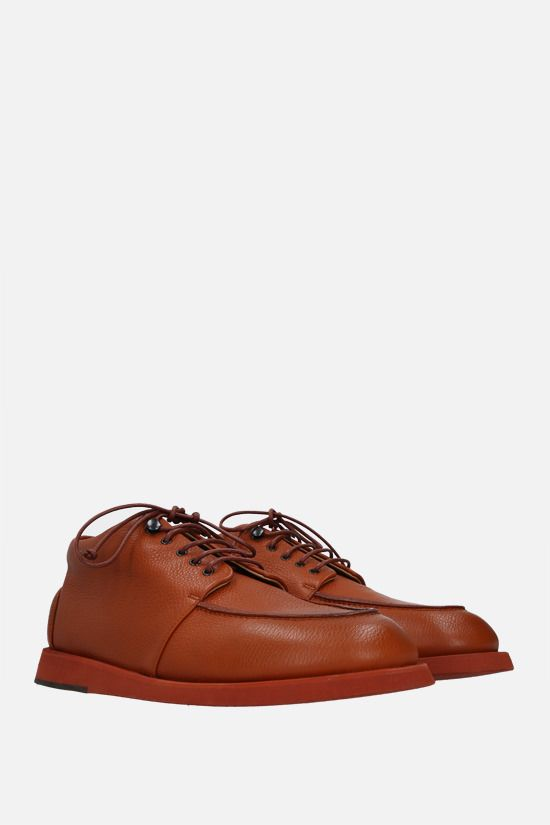 MARSELL: Pana grainy leather derby shoes Color Brown_2