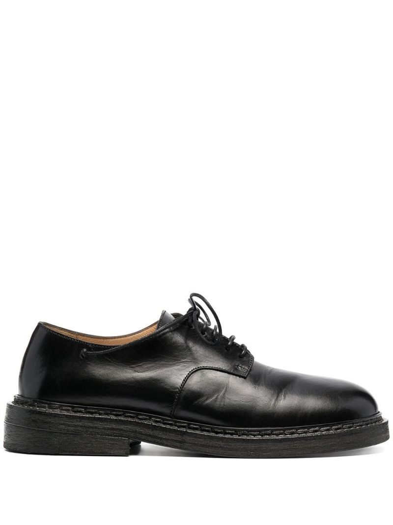 MARSELL: shiny leather derby shoes Color Black_1