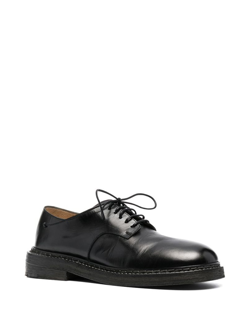 MARSELL: shiny leather derby shoes Color Black_2