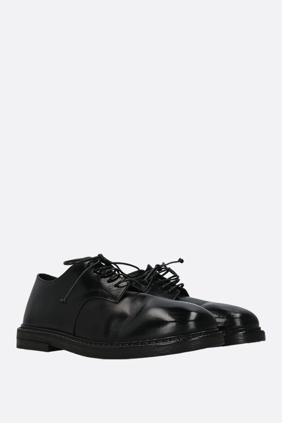 MARSELL: Nasello shiny leather derby shoes Color Black_2