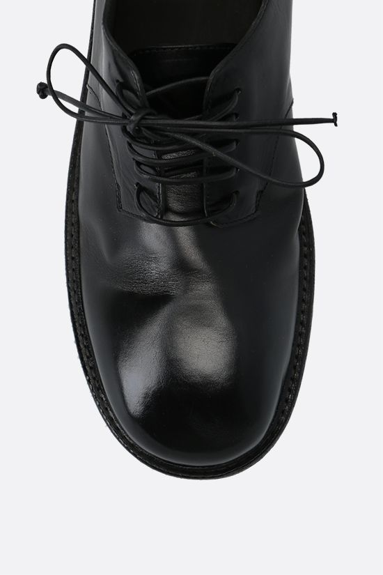 MARSELL: Nasello shiny leather derby shoes Color Black_4