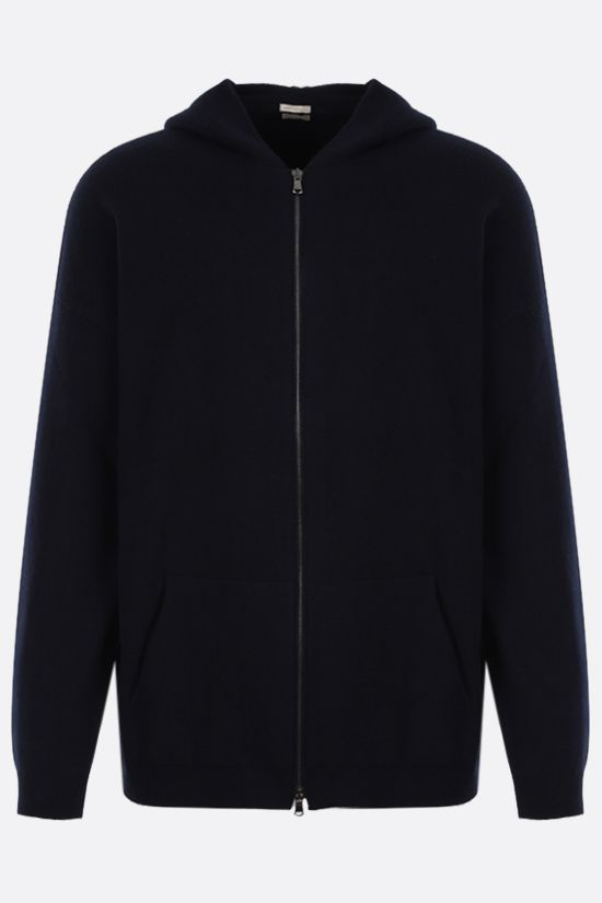 MASSIMO ALBA: full-zip cashmere cardigan Color Blue_1