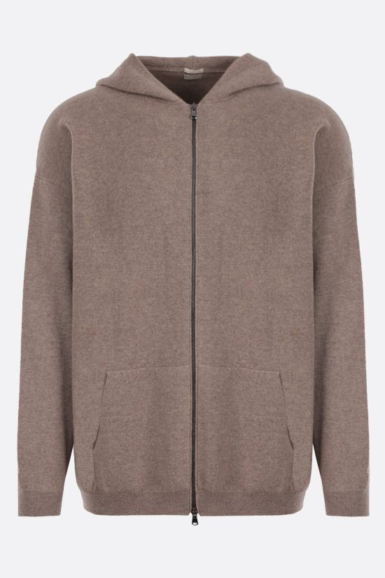 MASSIMO ALBA: full-zip cashmere cardigan Color Brown_1