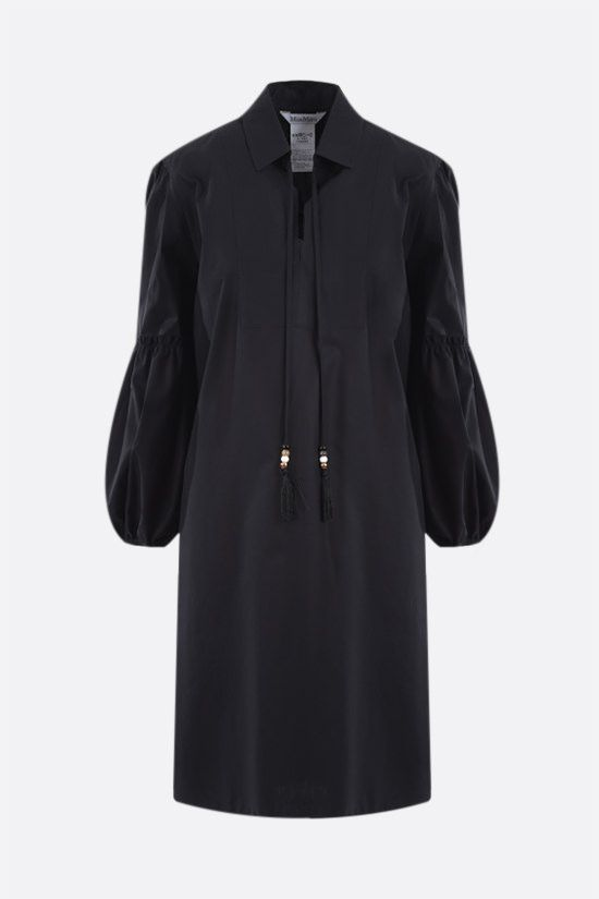MAX MARA: Fedora poplin short dress Color Black_1