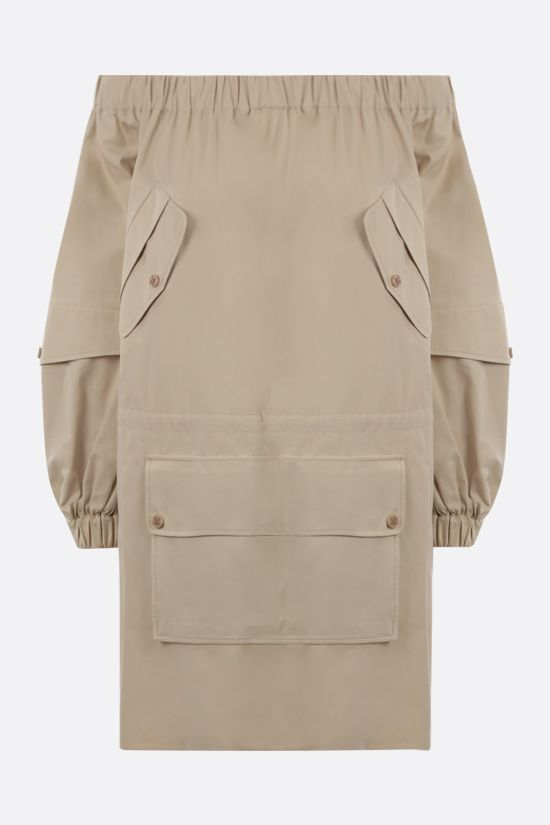 MAX MARA: Emanuel off-the-shoulder cotton dress Color Neutral_1