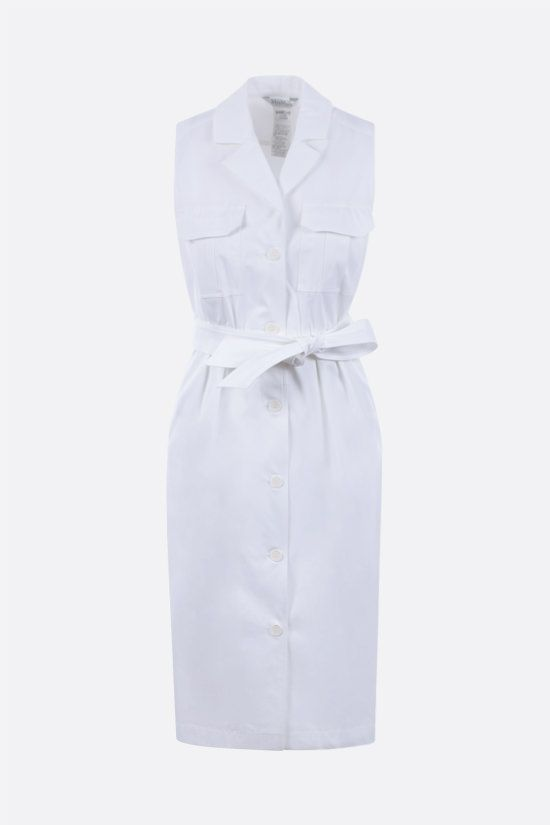 MAX MARA: Elica stretch cotton shirt dress Color White_1