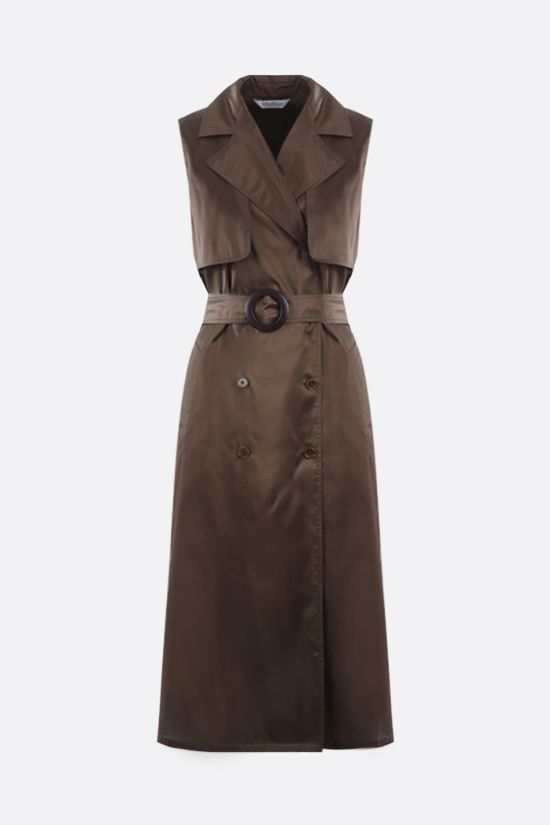 MAX MARA: Bora silk shantung trench dress Color Brown_1