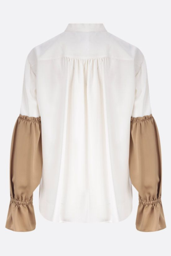 MAX MARA: Rail silk blouse Color White_2