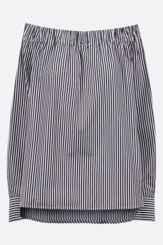 MAX MARA: Seggio striped cotton off-the-shoulder blouse Color Grey_1