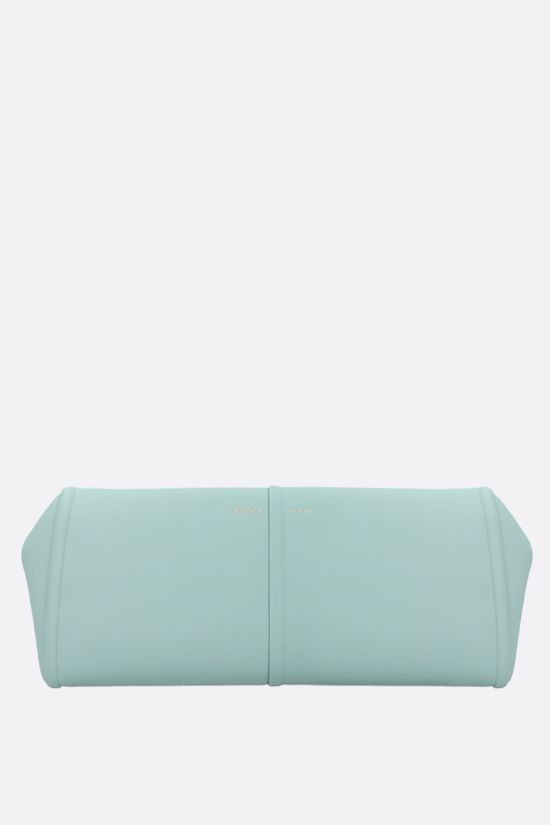 MAX MARA: Elsap smooth leather clutch Color Green_1