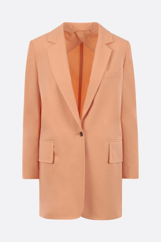 MAX MARA: Marsala single-breasted gabardine jacket Color Orange_1
