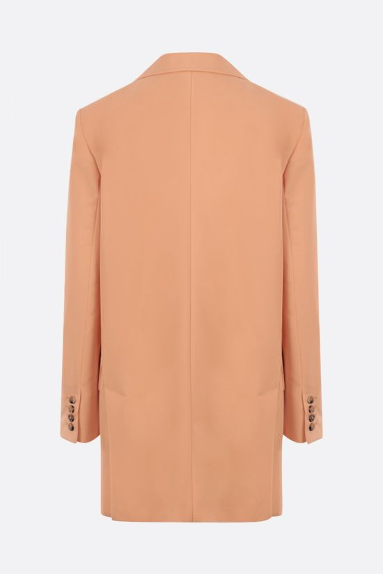 MAX MARA: Marsala single-breasted gabardine jacket Color Orange_2