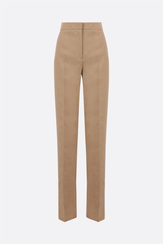 MAX MARA: Bice straight-leg linen pants Color Brown_1