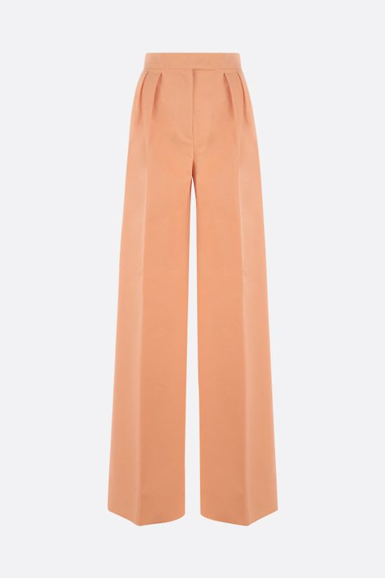 MAX MARA: Sabbia gabardine wide-leg pants Color Orange_1