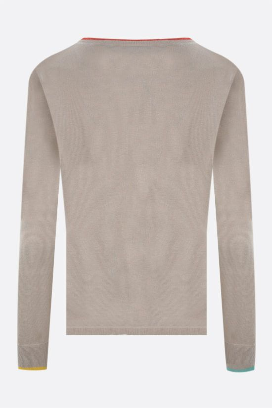 MAX MARA: Satrapo silk linen blend pullover Color Multicolor_2