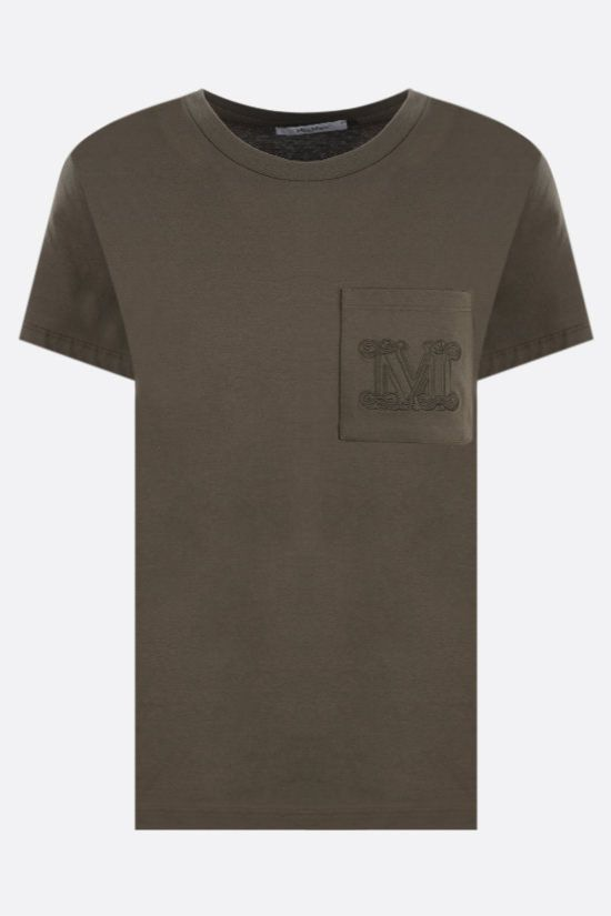 MAX MARA: Diego cotton t-shirt Color Green_1