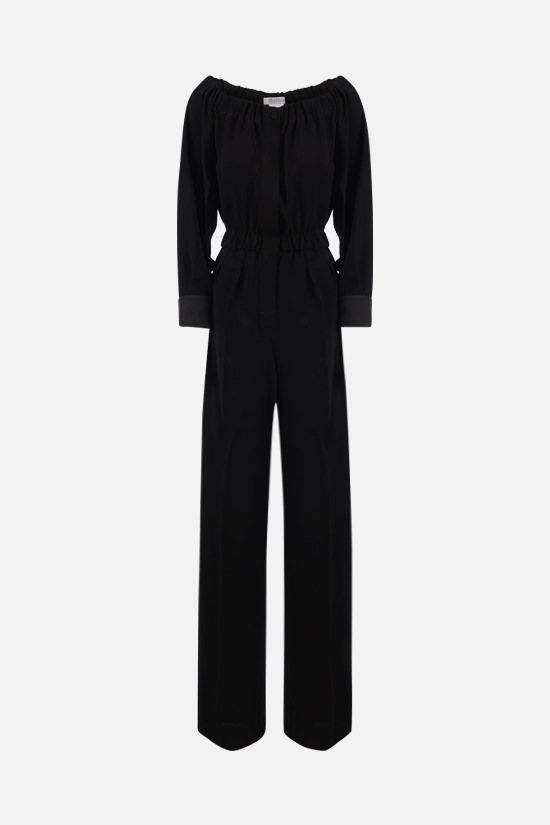 MAX MARA: Asiago cady jumpsuit Color Black_1