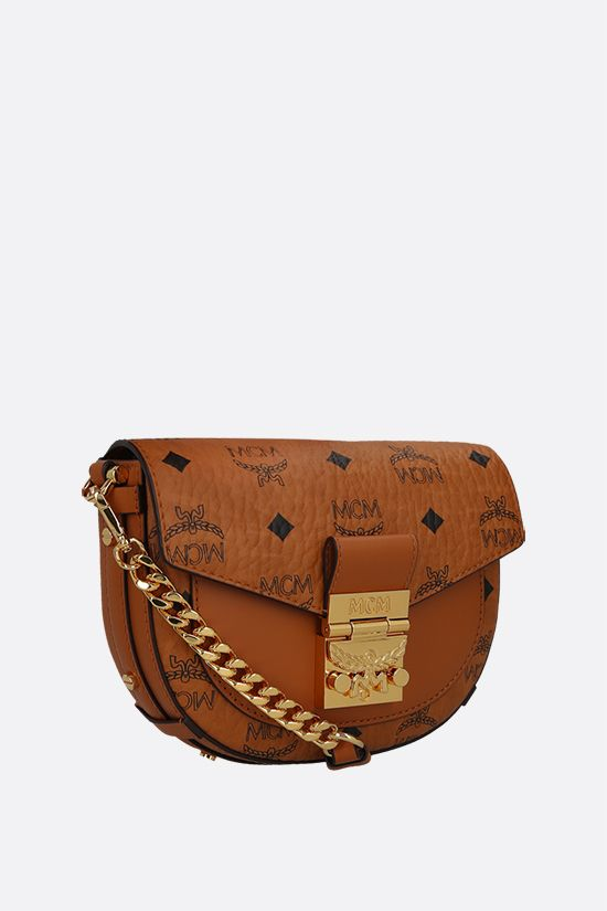 MCM: Patricia mini coated canvas crossbody bag Color Brown_2