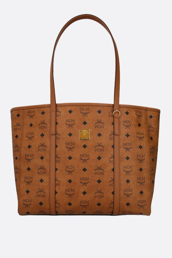 MCM: Toni medium coated canvas tote bag Color Brown_1