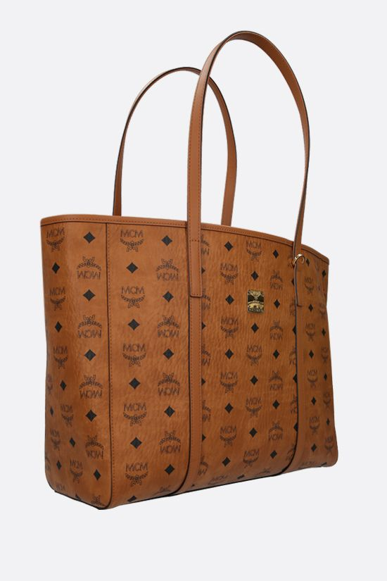 MCM: Toni medium coated canvas tote bag Color Brown_2