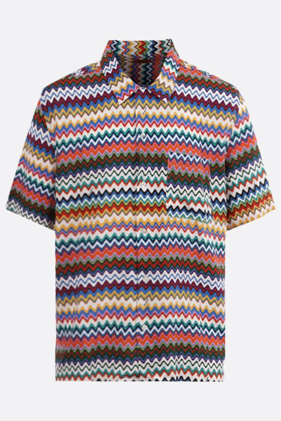 MISSONI: zig zag-motif viscose bowling shirt Color Multicolor_1