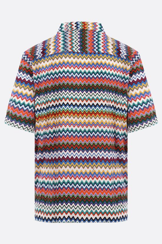 MISSONI: zig zag-motif viscose bowling shirt Color Multicolor_2
