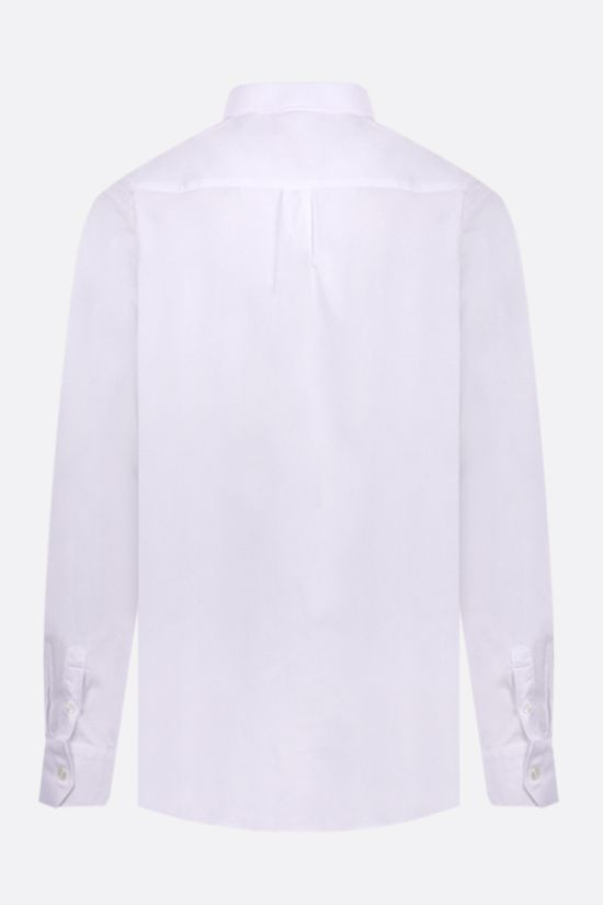 MISSONI: contrasting band-detailed cotton shirt Color White_2