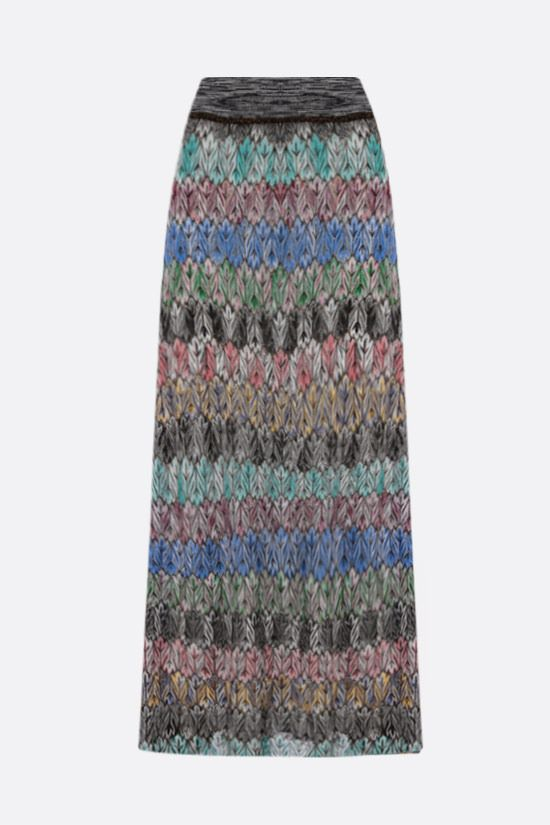 MISSONI: graphic-motif lightweight knit midi skirt Color Multicolor_2