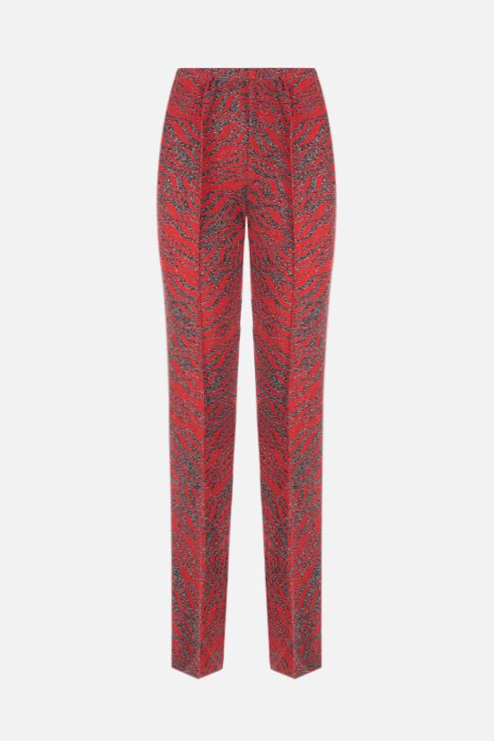 MISSONI: zebra motif jacquard straight-leg pants Color Red_1