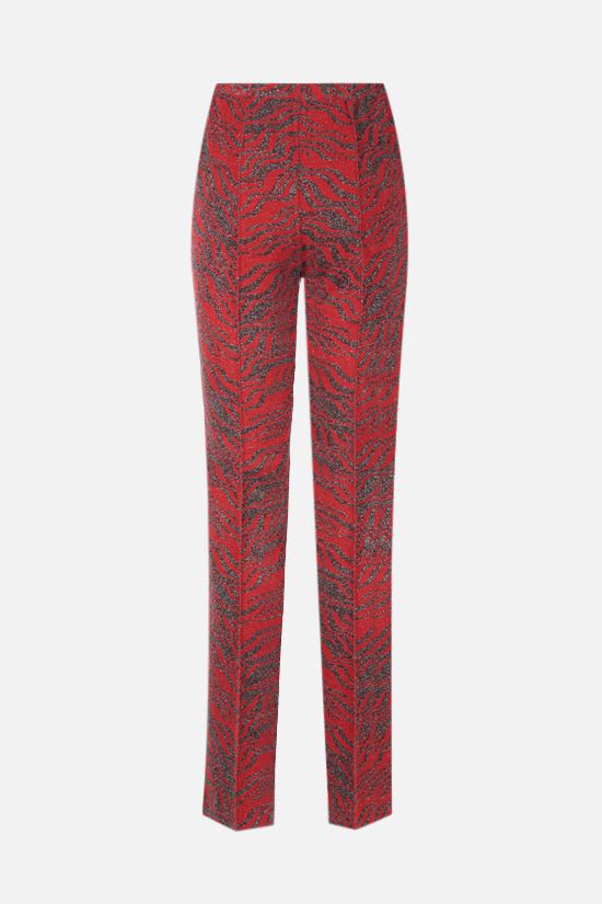 MISSONI: zebra motif jacquard straight-leg pants Color Red_2