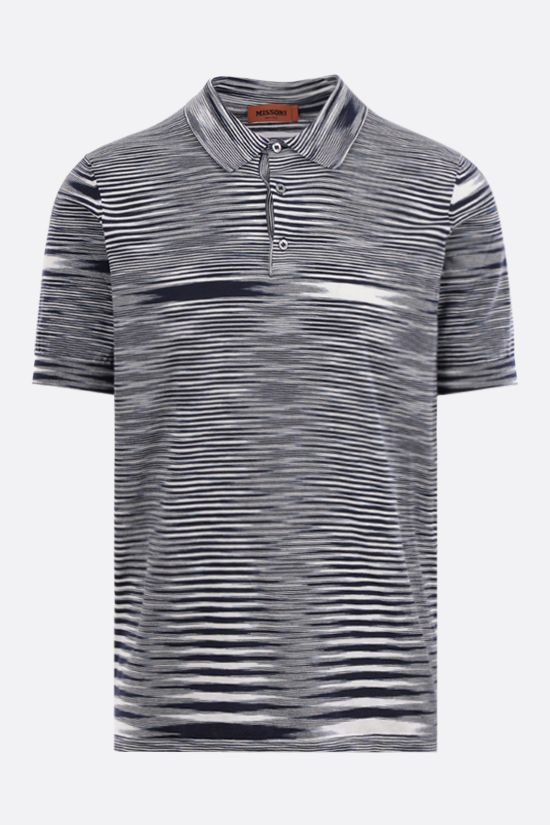 MISSONI: striped cotton polo shirt Color White_1