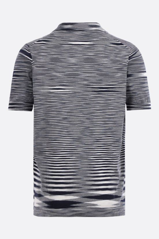 MISSONI: striped cotton polo shirt Color White_2