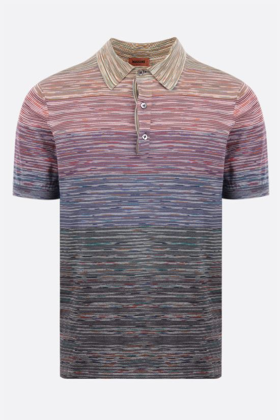 MISSONI: striped cotton polo shirt Color Multicolor_1