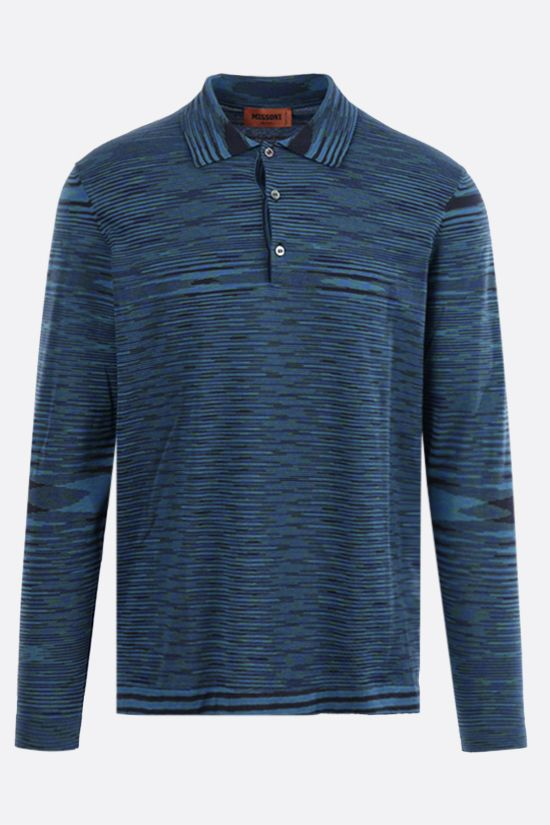 MISSONI: long-sleeved striped cotton polo shirt Color Multicolor_1