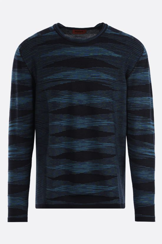 MISSONI: striped cotton pullover Color Blue_1
