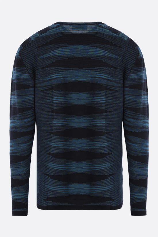 MISSONI: striped cotton pullover Color Blue_2