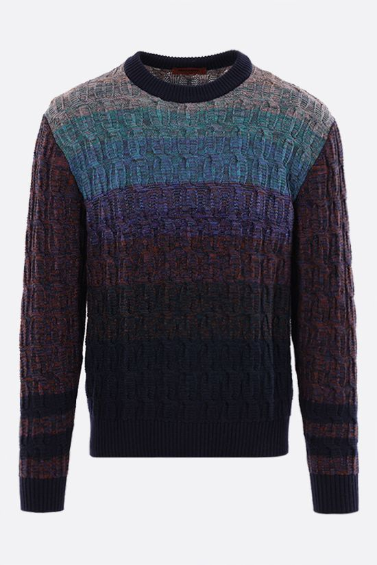MISSONI: striped wool cotton blend pullover Color Multicolor_1