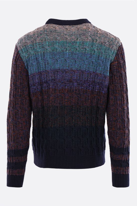 MISSONI: striped wool cotton blend pullover Color Multicolor_2