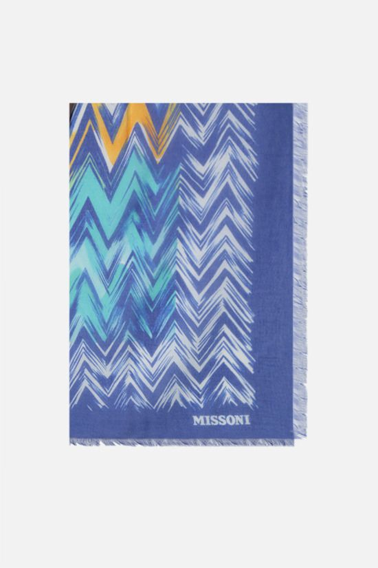 MISSONI: zig zag motif modal silk blend shawl Color Multicolor_1