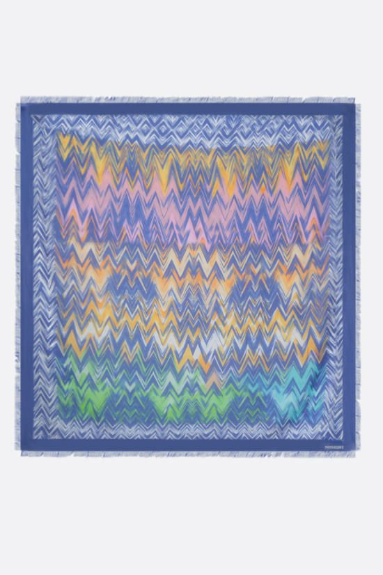 MISSONI: zig zag motif modal silk blend shawl Color Multicolor_2