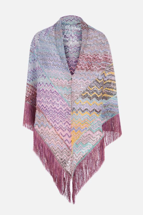 MISSONI: light knit triangle shawl Color Multicolor_1
