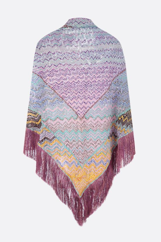 MISSONI: light knit triangle shawl Color Multicolor_2