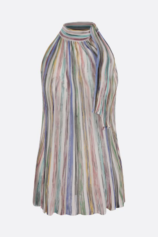 MISSONI: striped cotton blend sleeveless top Color Multicolor_1
