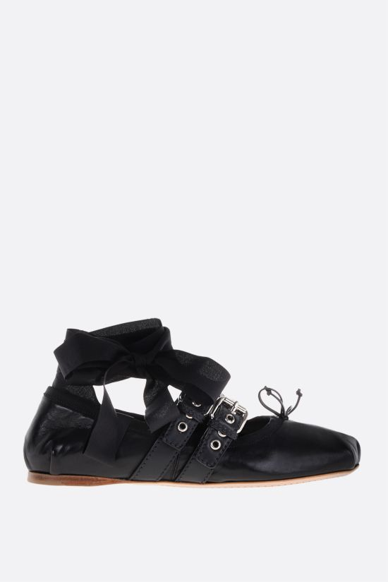 MIU MIU: nappa ballerinas Color Black_1