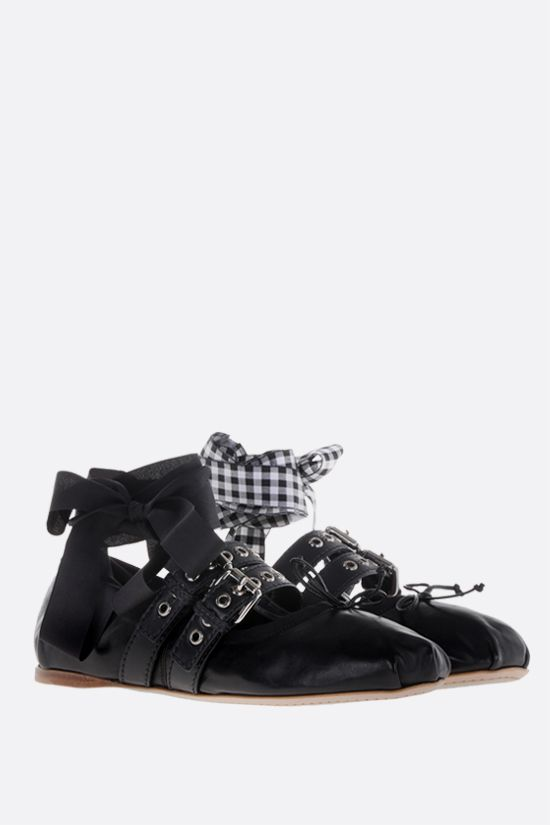 MIU MIU: nappa ballerinas Color Black_2