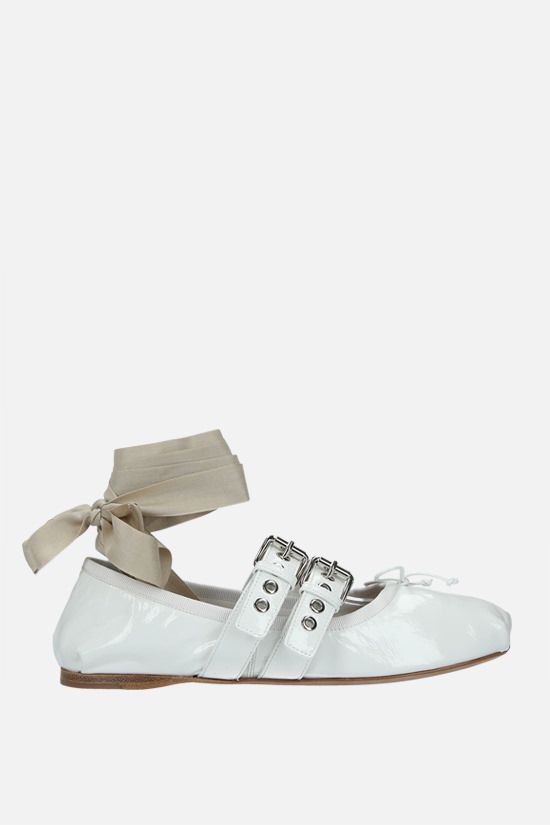 MIU MIU: naplak ballerinas Color White_1