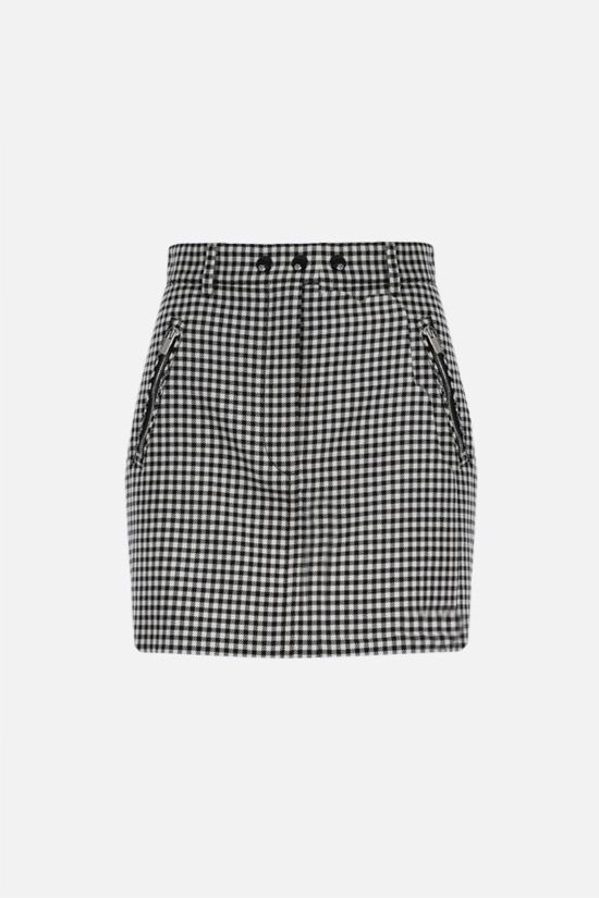 MIU MIU: check twill miniskirt Color Black_1