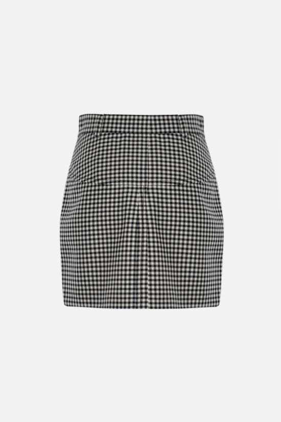 MIU MIU: check twill miniskirt Color Black_2